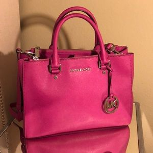 Michael Kors hot pink satchel